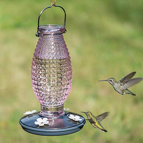 Perky-Pet Vintage Hummingbird Feeder, Cranberry Hobnail  (8131-2)
