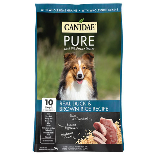 Canidae Pure Dog With Wholesome Grains, Duck & Brown Rice, 24 lbs
