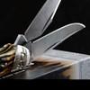 Rough Rider Copperhead Cinnamon Stag Bone Damascus