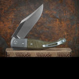 Lion Steel Gitano Green Canvas Micarta