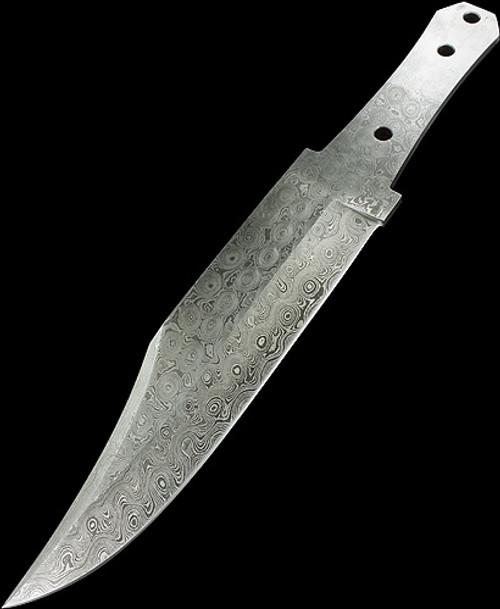 Blade Blank Damascus Coffin Bowie