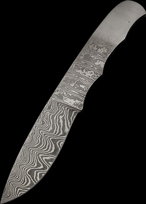 Blade Blank Damascus Drop Point