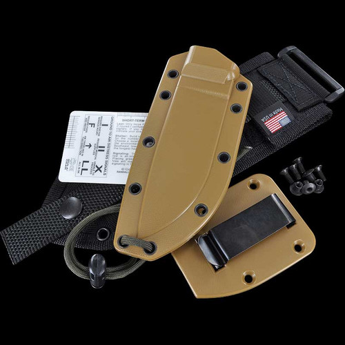 ESEE-4 Sheath w/MOLLE Back & Clip Plate