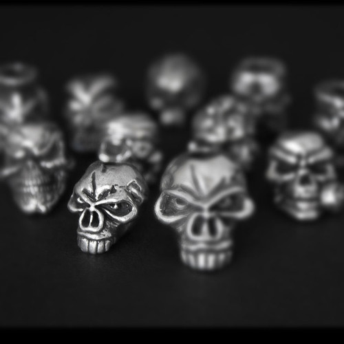 Schmuckatelli Emerson Pewter Skull Bead