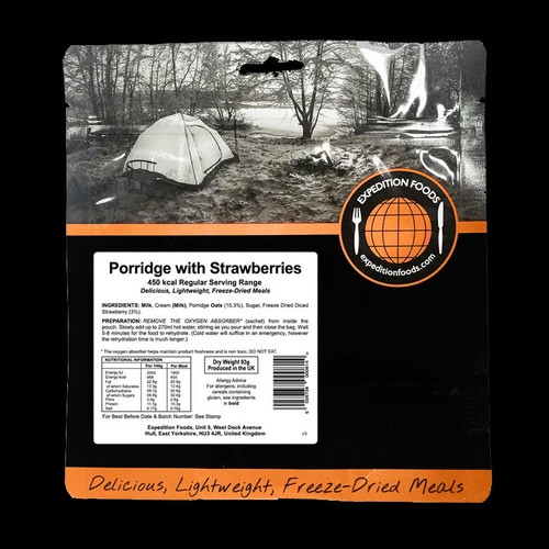 Expedition Foods Porridge with Strawberries (Regular)