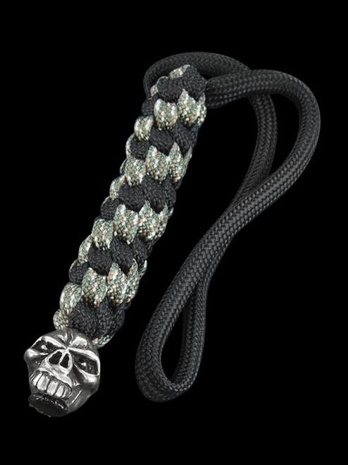 Schmuckatelli Emerson Skull Lanyard Pewter