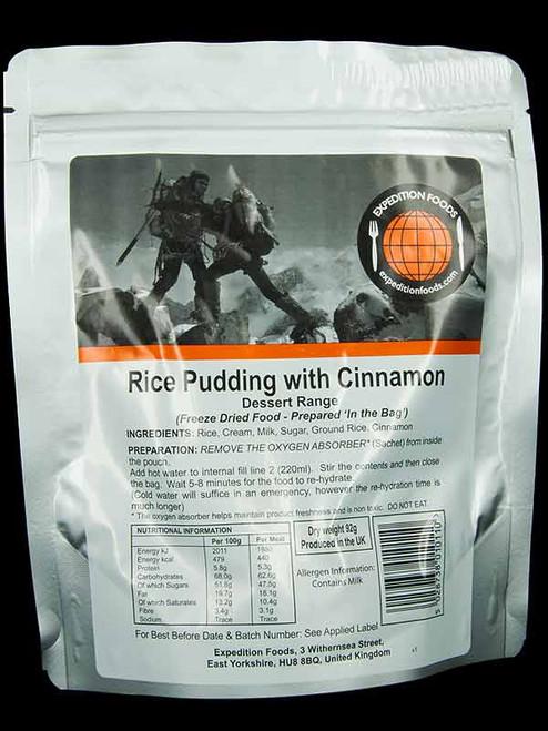 Expedition Foods Rice Pudding with Cinnamon (Regular)