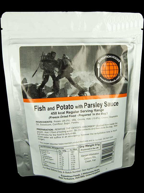 Expedition Foods Fish & Potato in Parsley Sauce (Regular)