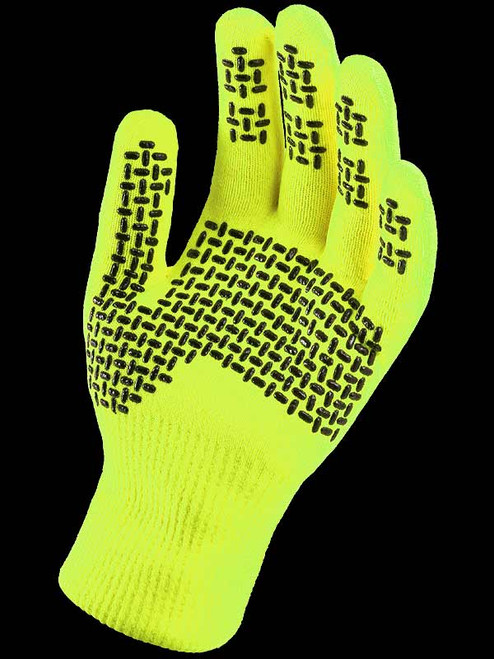 Sealskinz Waterproof All Weather Ultra Grip Knitted Glove Neon Yellow