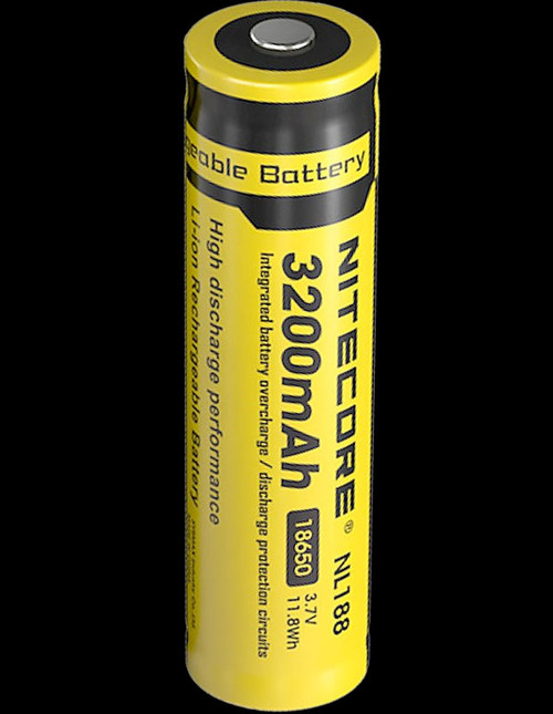 Nitecore 18650 Rechargeable Battery - 3200mAh