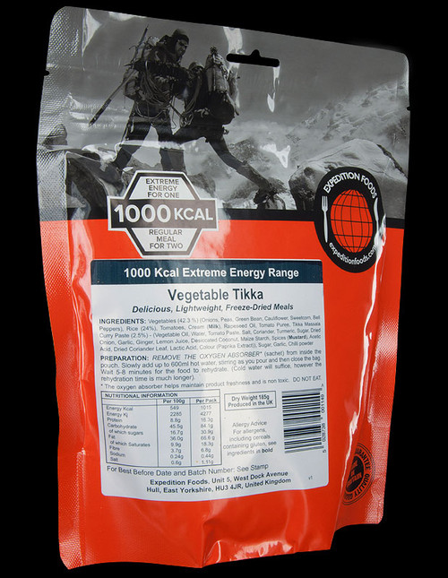 Expedition Foods Vegetable Tikka with Rice (Serves 2)