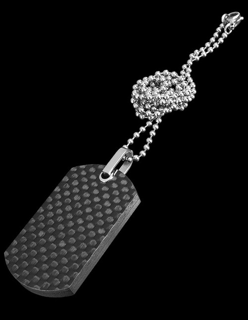 Bastion Dog Tag Pendant Carbon Fibre