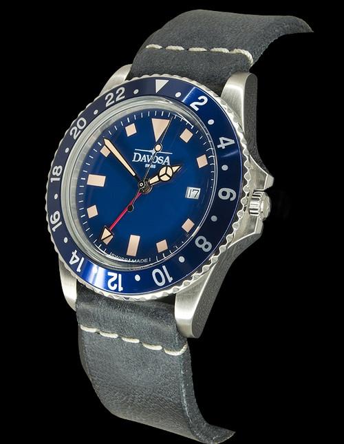 Davosa Vintage Diver Quartz Blue