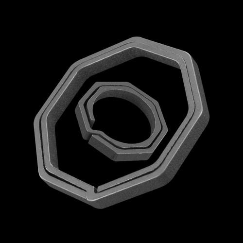 TiTech Titanium Octagon Keychain