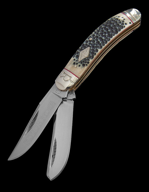 Rough Rider Sowbelly Trapper Buckshot Bone
