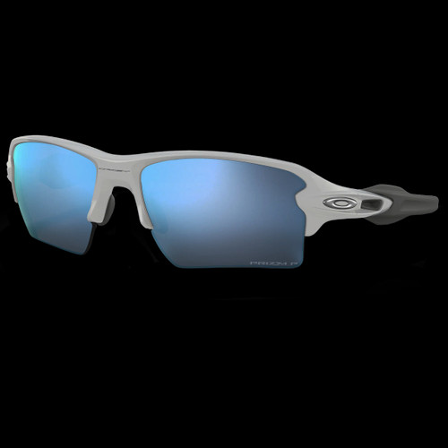 Oakley Flak 2.0 XL Polished White Prizm Deep Water Polarized