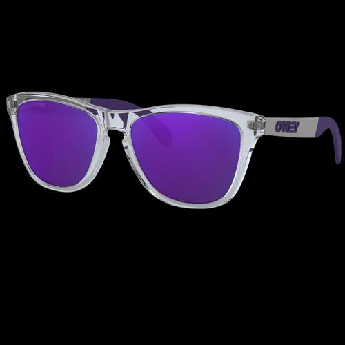 Oakley Frogskins Polished Clear Violet Polarized