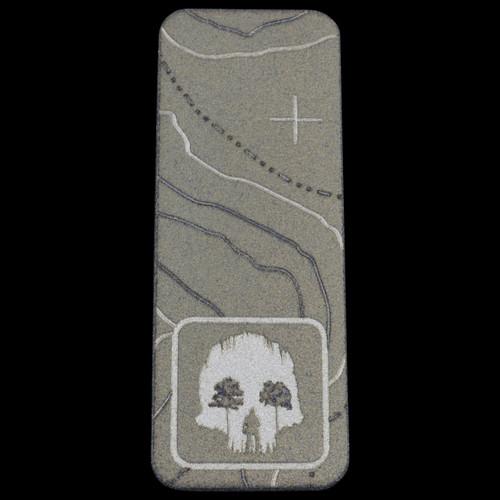 """TAD TITANIUM VERTICAL PATCH 2"""" Skull Cave Basalt"""