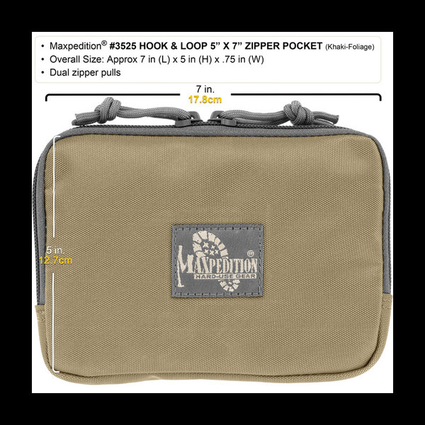 Maxpedition Hook-&-Loop 5 x 7in Zipper Pocket
