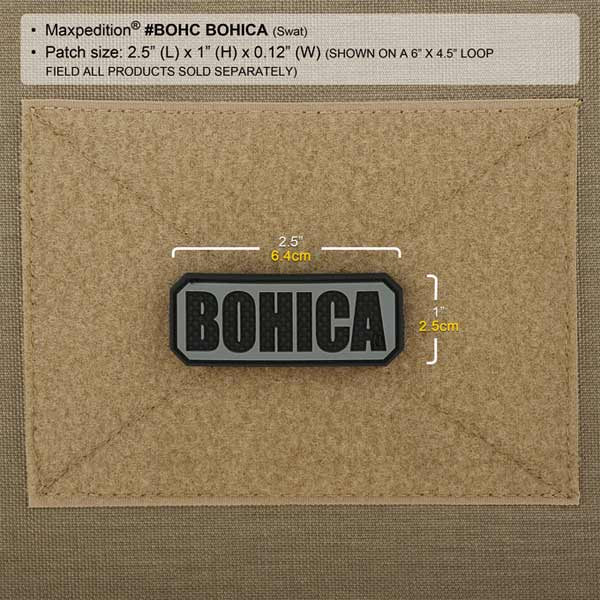 Maxpedition BOHICA 3D PVC Patch
