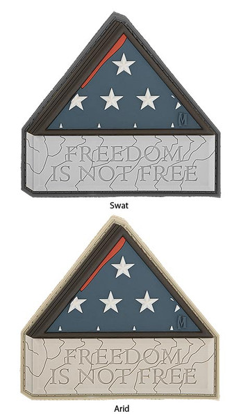 Maxpedition Freedom is not Free 3D Morale Patch