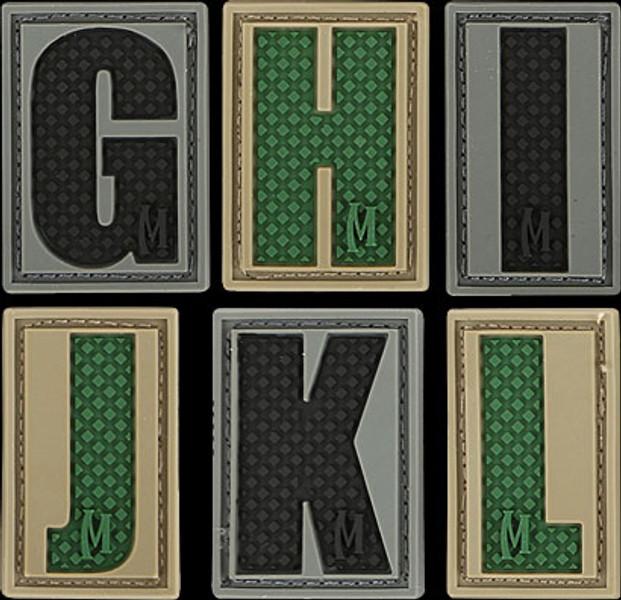 Maxpedition Letters of the Alphabet 3D PVC Morale Patch