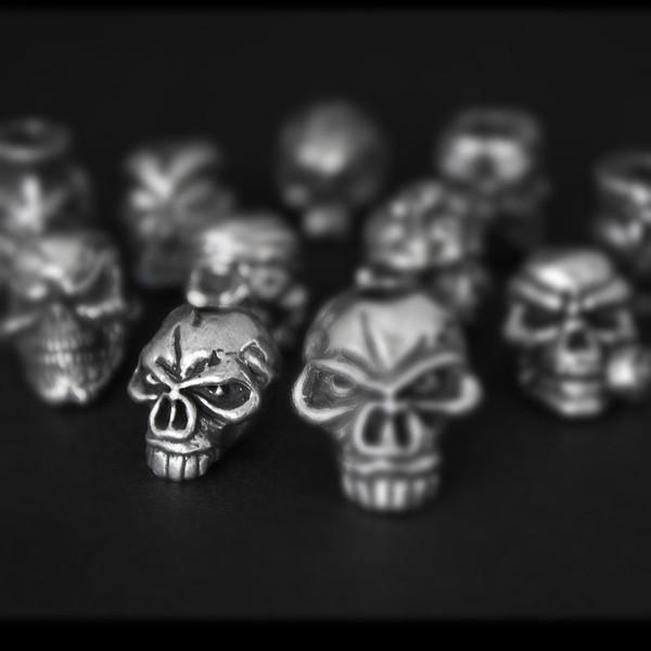 Schmuckatelli Emerson Pewter Skull Bead