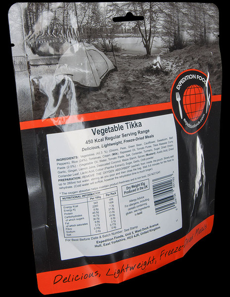 Expedition Foods Vegetable Tikka with Rice (Regular)