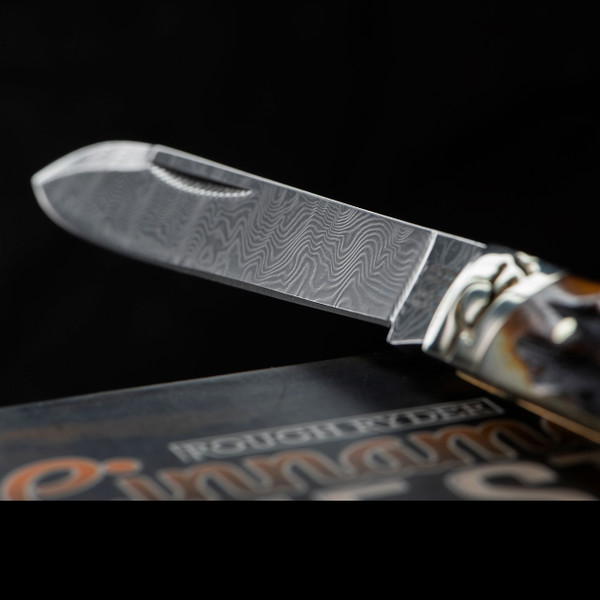 Rough Rider Doctor's Knife Cinnamon Stag Damascus