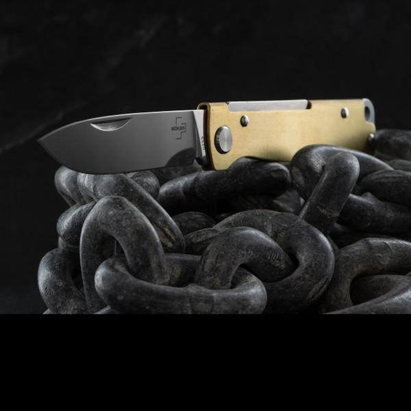 Boker Plus Atlas Brass Knife On Chains