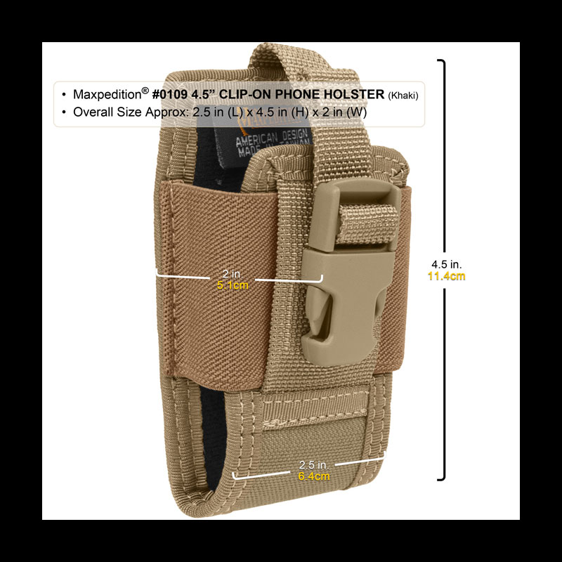 Maxpedition 4.5in Clip On Phone Holster