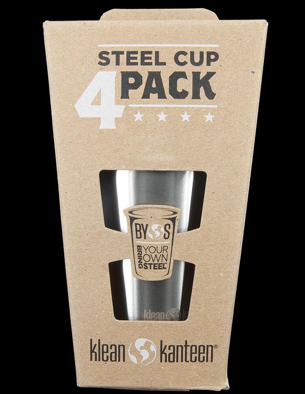 Klean Kanteen Steel Cup 295ml - 4 Pack
