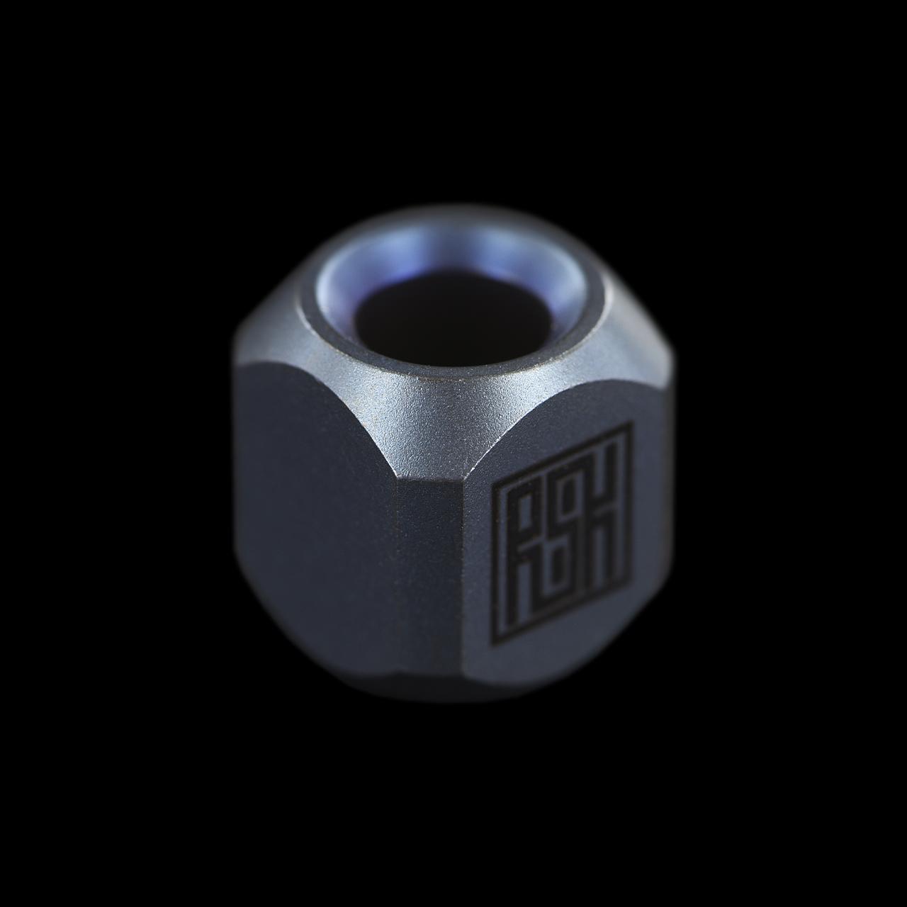 Real Steel Titanium Bead Hexagon Blue