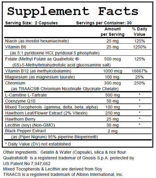 Heart Health Support - Supplement Facts