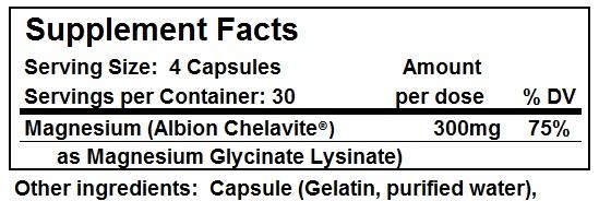 Magnesium - Supplement Facts