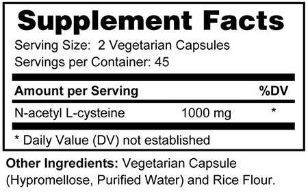NAC - Supplement Facts