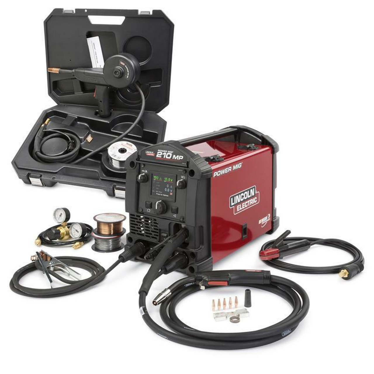 Lincoln Power MIG 210 MP Multi-Process Welder Aluminum One-Pak K4195-1