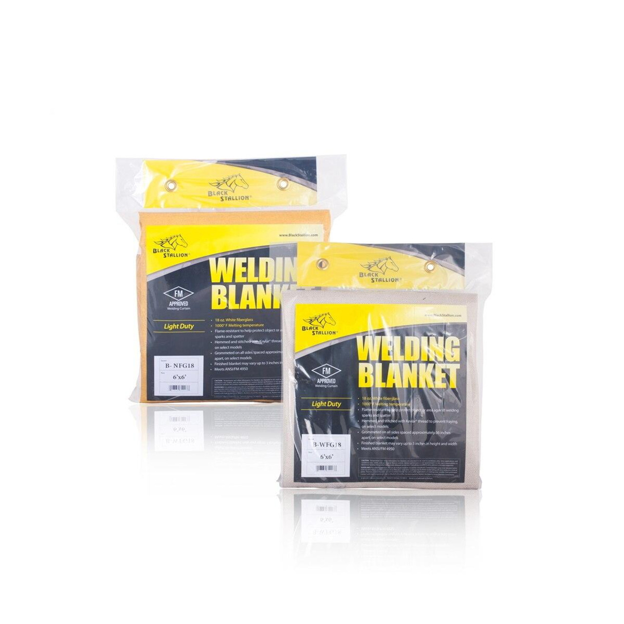 Revco Black Stallion 18 oz Heat Cleaned Tan Fiberglass Welding Blanket 6 x 6