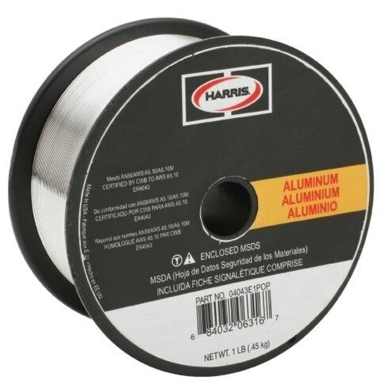 Harris 5356 Aluminum Solid MIG Welding Wire .030 - 1 lb 05356E1