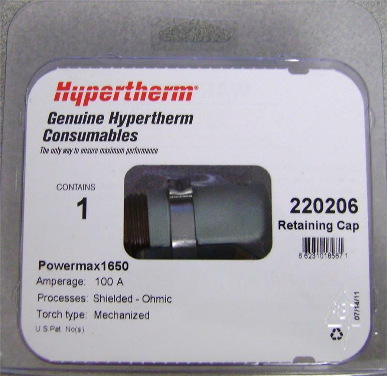 Hypertherm 220206 Powermax 1650 100 Amp Ohmic Contact Shield Cap
