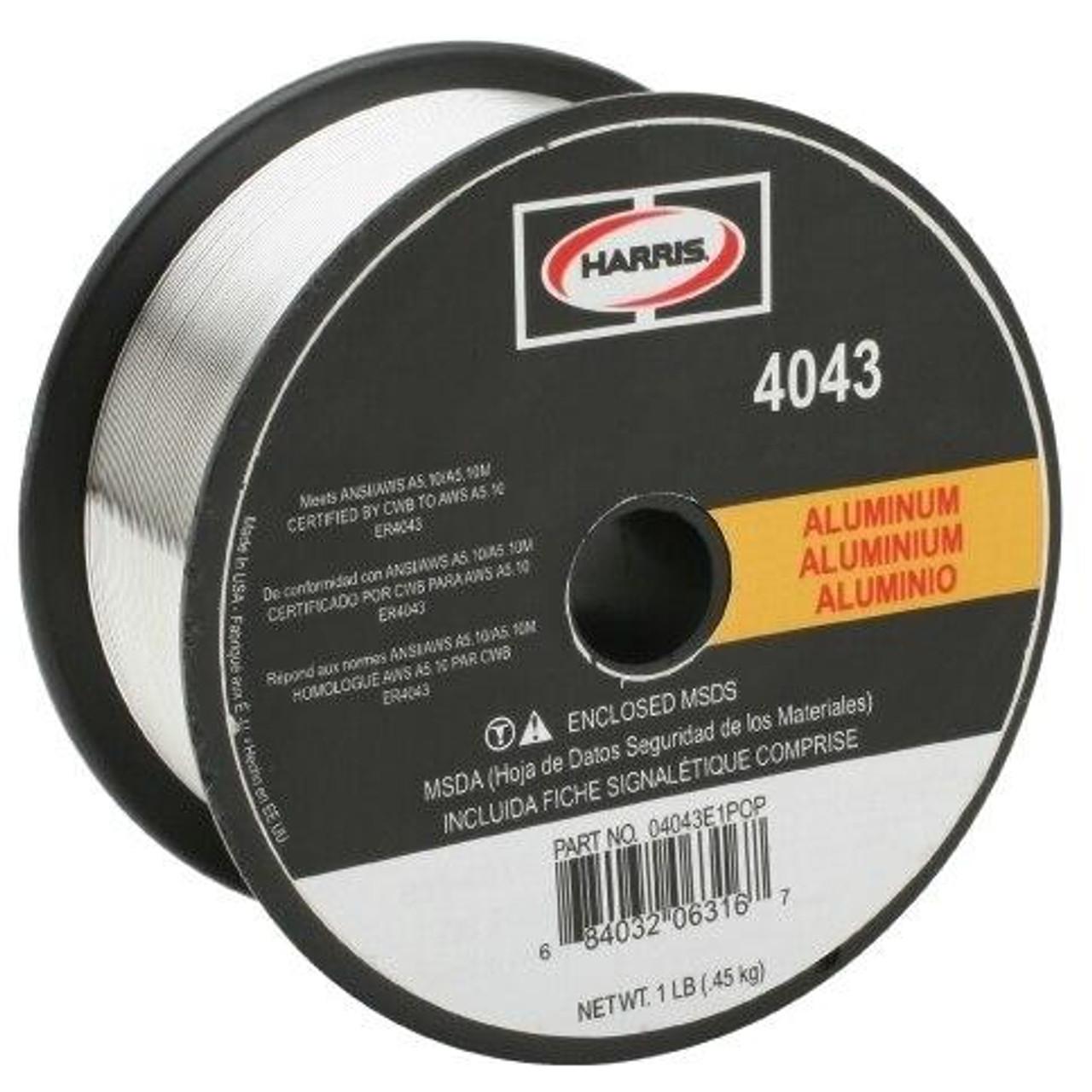 Harris 4043 Aluminum Solid MIG Welding Wire .035 - 1 lb