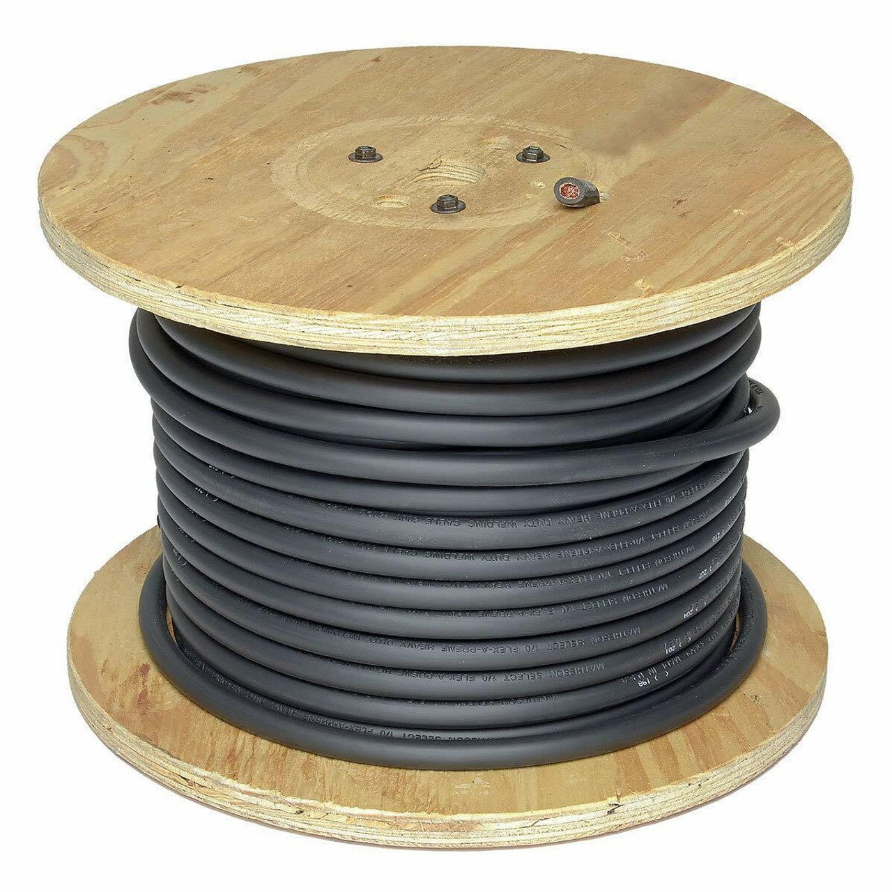500 Foot Spool of Black 1/0 Flex-A-Prene Welding and Battery Cable Made In USA
