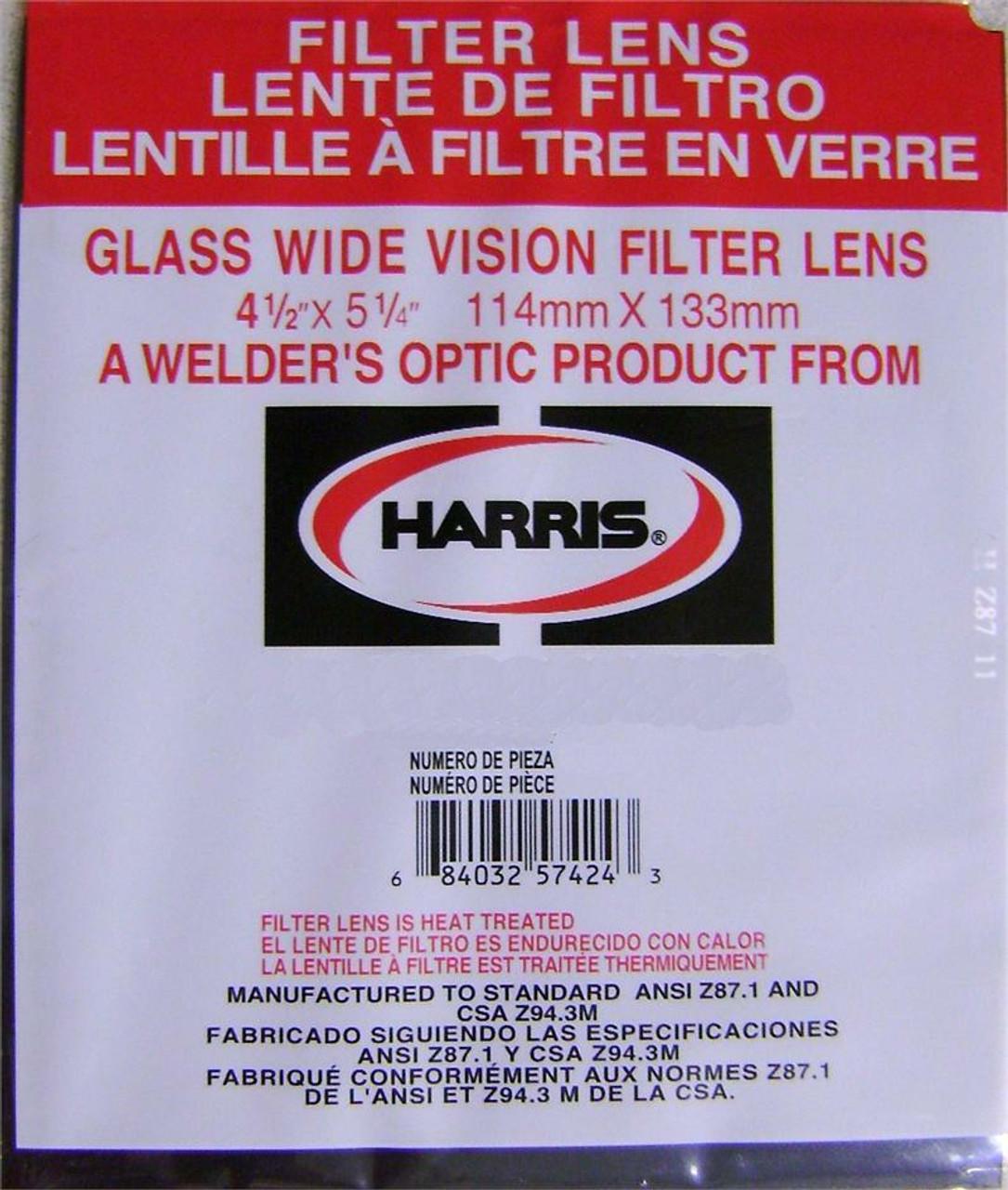 Harris Shade 8 Welding Helmet Glass Filter Plate Lens 4.5 x 5.25