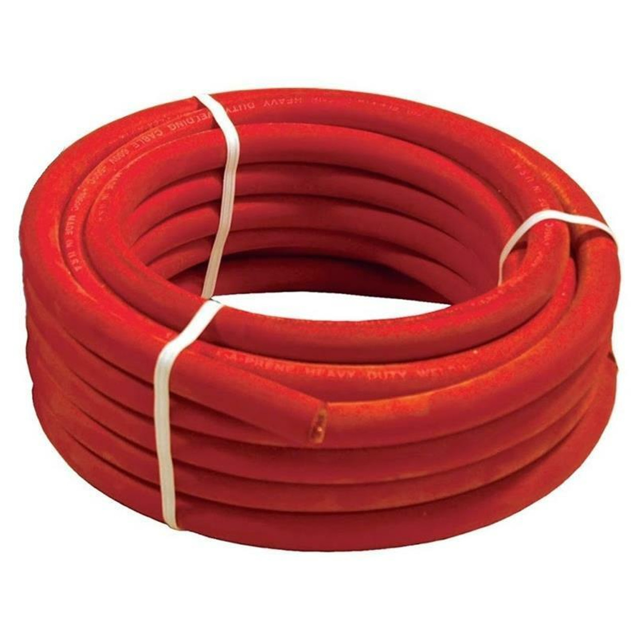 25 Foot of Red 2/0 Flex-A-Prene Welding and Battery Cable Made In USA