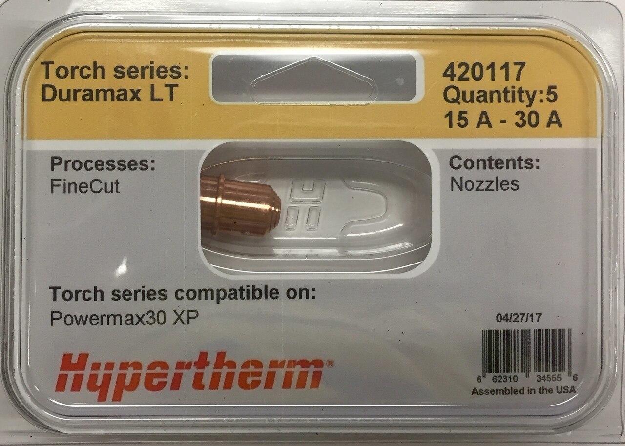 Hypertherm 420117 Powermax 30 XP Fine Cut Nozzles - 5 Pack