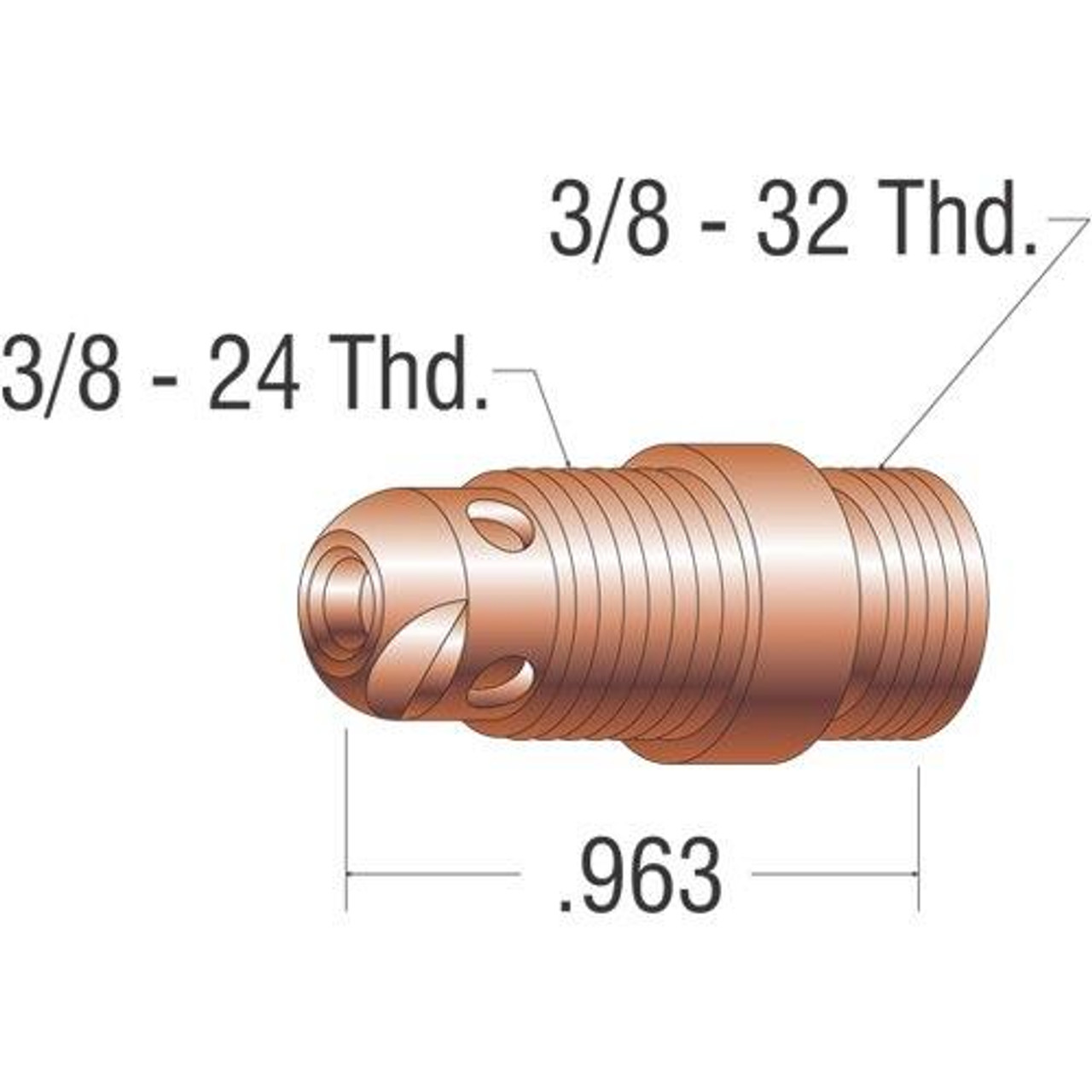 Profax 17CB20 Collet Body 17-18-26 Series TIG Torch - 2 Pack
