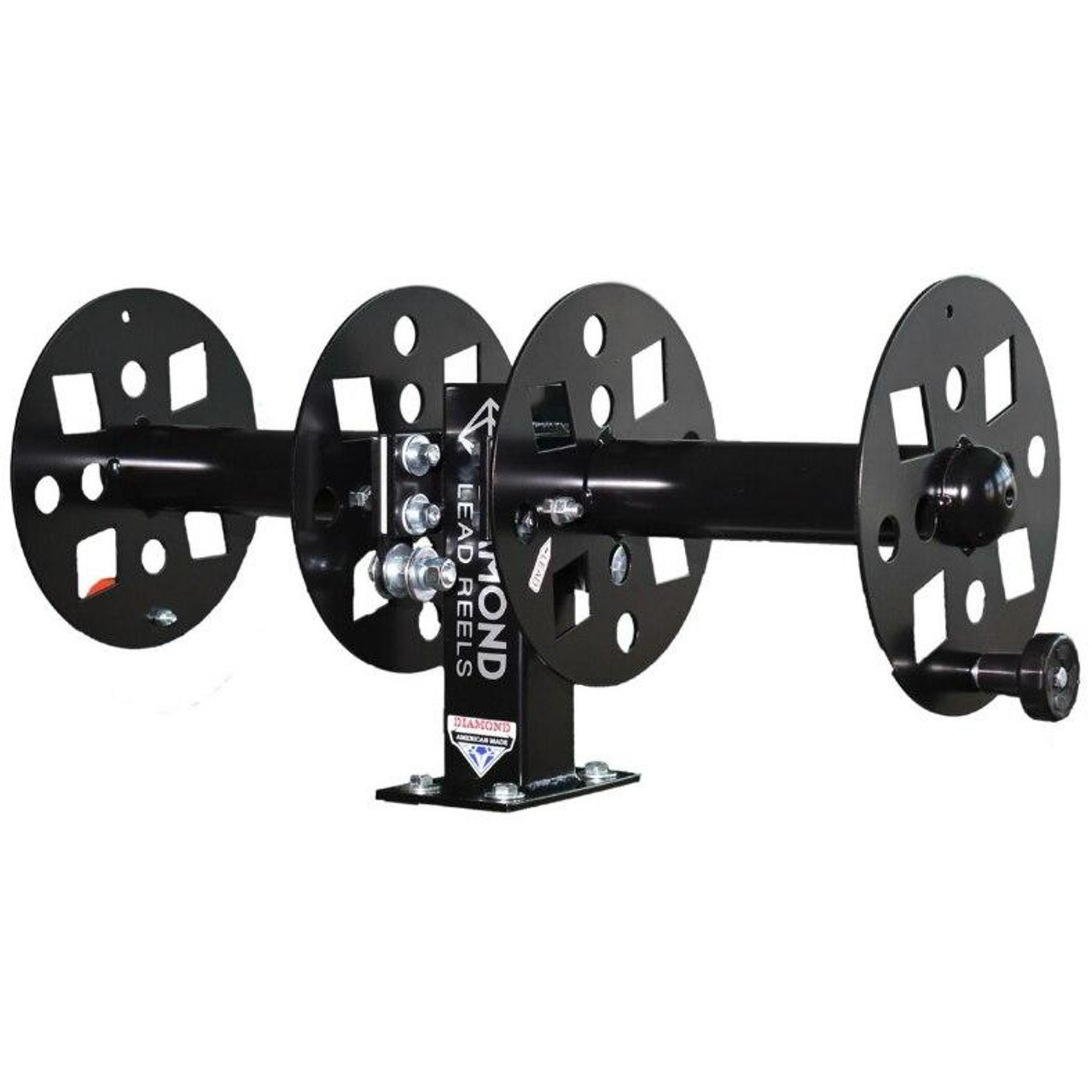 Diamond Lead Reels Heavy Duty 10 Side-By-Side Welding Lead Reel FBSS10BLK