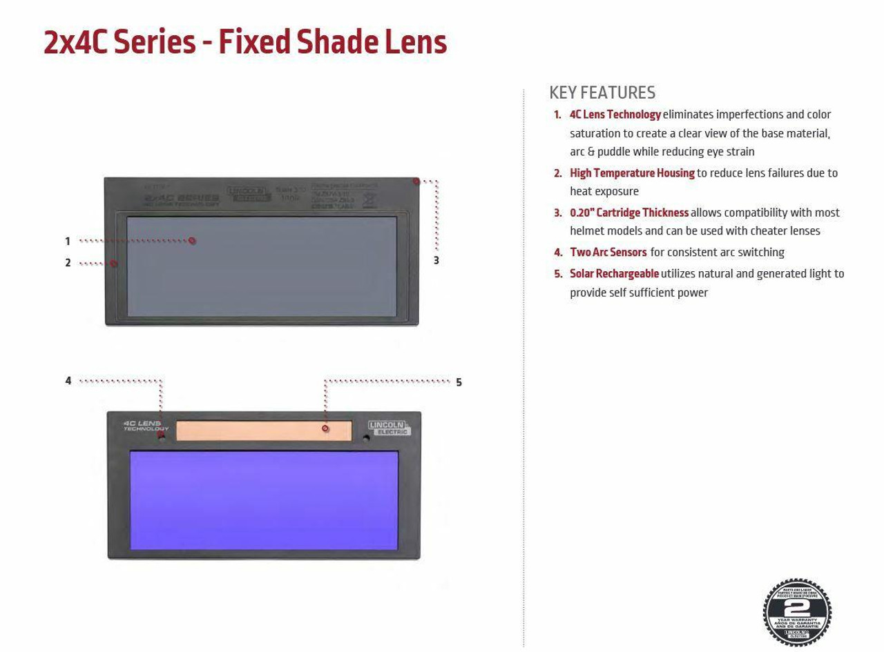 Lincoln Electric 2X4 C-Series Auto-Darkening Welding Lens Shade 9 KP3777-1