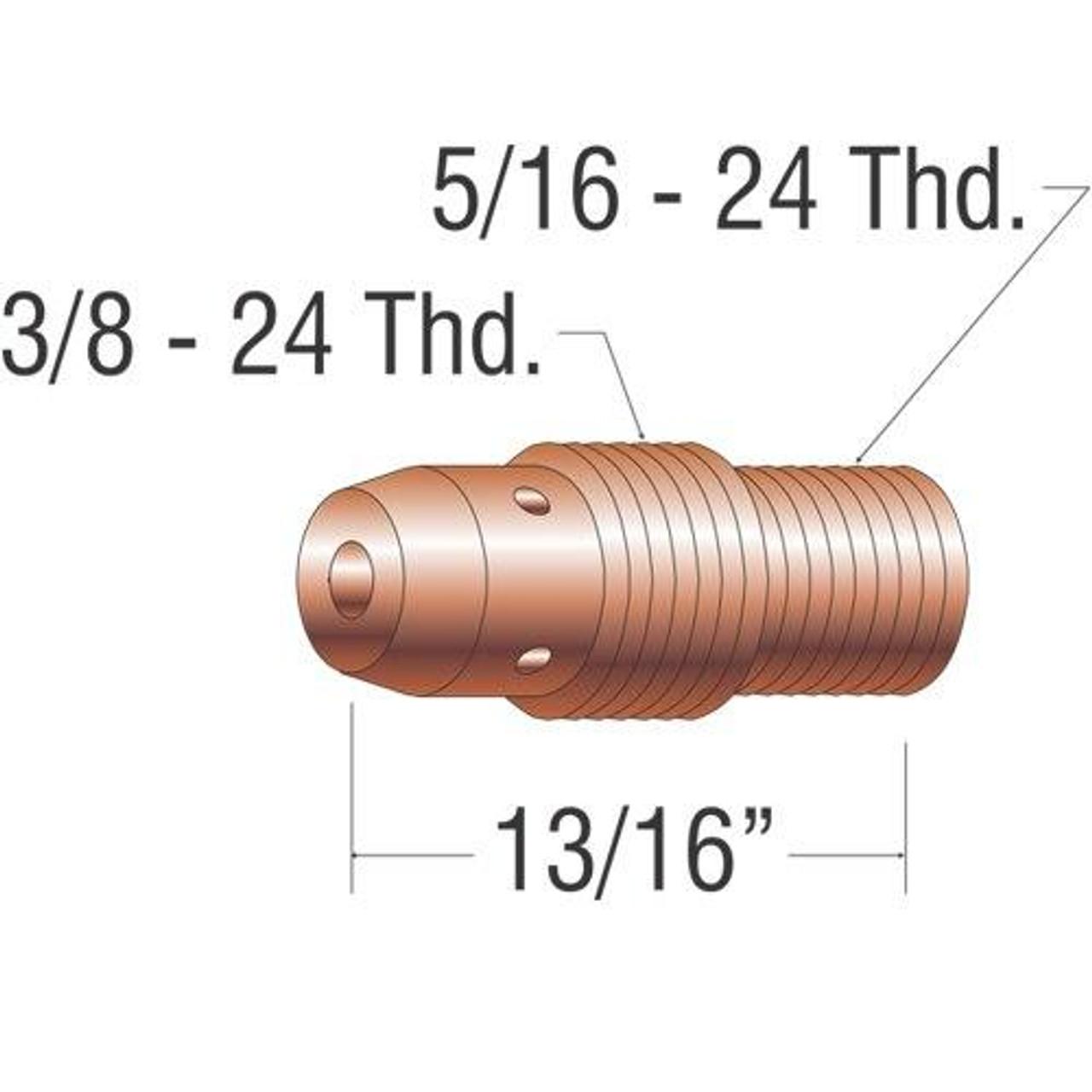 Profax 13N26 Collett Body .040 9-20-25 Series TIG Torch - 10 Pack