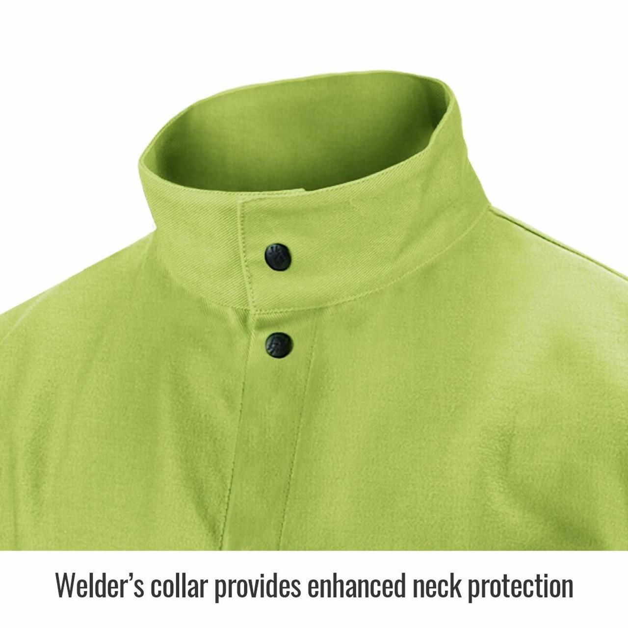 Revco FL9-30C TruGuard 200 FR Cotton Welding Jacket Safety Lime